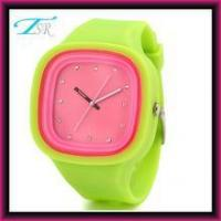 Buy cheap 2016 silicone jelly watches no logo with interchangeable band and big face for teens Top selling from Wholesalers
