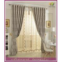 100% Polyester European Blackout Simple Bay Window Curtain