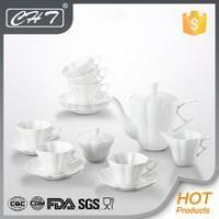 Buy cheap wholesale plain white fine ceramic tea set for banquet and party from Wholesalers