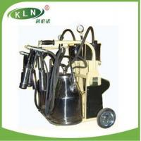Buy cheap brand piston milking machine. milking trolley with two buckets from wholesalers