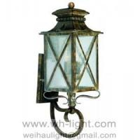 Buy cheap Traditional garden lamp iron art wall lantern from wholesalers