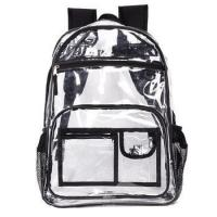 Buy cheap Boys Girls Large Capacity Clear PVC School Bulletproof Transparent Backpack from wholesalers