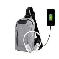 Buy cheap New Fashion Business Leisure Messenger Crossbody Back Pack Smart USB Charging Chest Sling from wholesalers